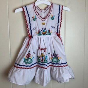Vintage Girls Prairie Hippie Boho Nicaragua Dress